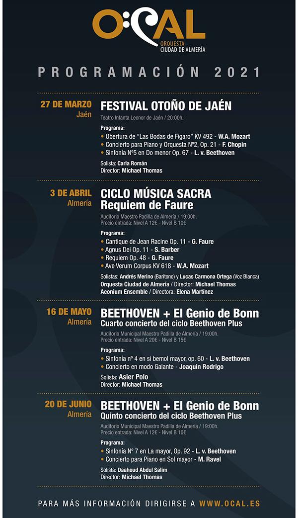 Conciertos de la Orquesta Ciudad de Almería OCAL