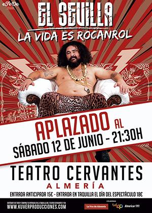 """Teatro """"EL SEVILLA"""" La vida es un Rocanrol ***APLAZADO***"""