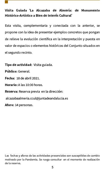 Día Internacional de los Monumentos y Sitios Almería