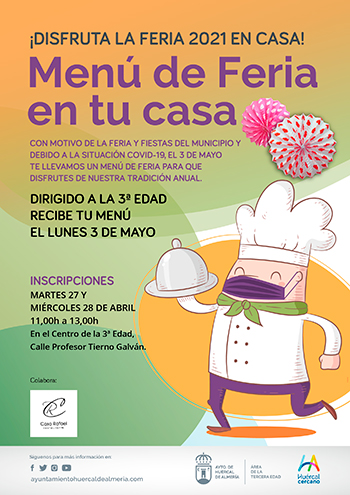 Menú a domicilio Feria Huércal de Almería