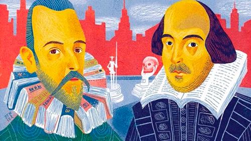 Miguel de Cervantes y William Shakespeare