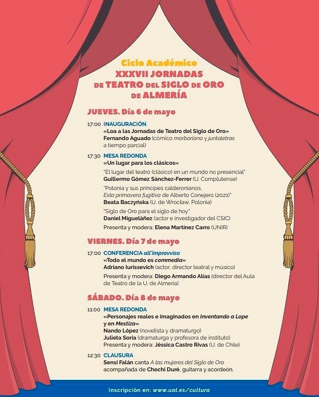 XXXVII Jornadas de Teatro del Siglo de Oro de Almería Ciclo Académico