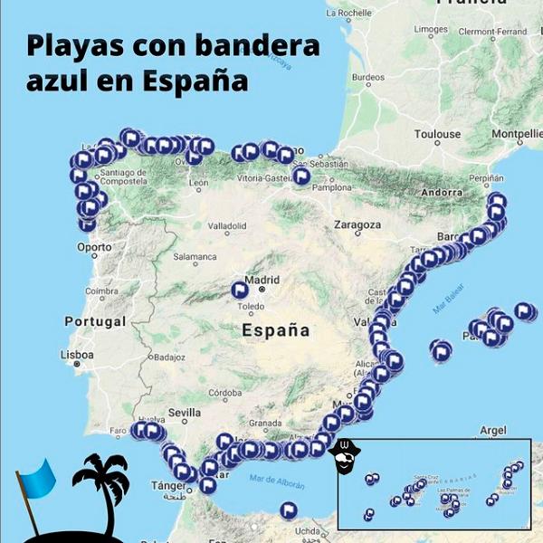 Banderas azules de las playas España 2021