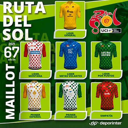 """Maillot Vuelta Andalucía 2021 """"Ruta del Sol"""""""