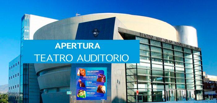 El Teatro Auditorio de Roquetas de Mar reabre sus puertas