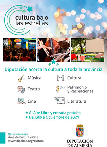 Cultura bajo las estrellas Diputacion de Almería