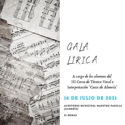 """GALA LÍRICA """"Costa de Almería"""""""
