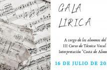 """Gala de Clausura del Curso de Técnica Vocal e Interpretación""""Costa de Almería"""""""