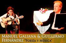 Manuel Galiana y el guitarrista Guillermo Fernández
