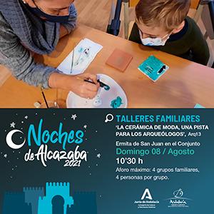 Noches de Alcazaba 2021 talleres familiares