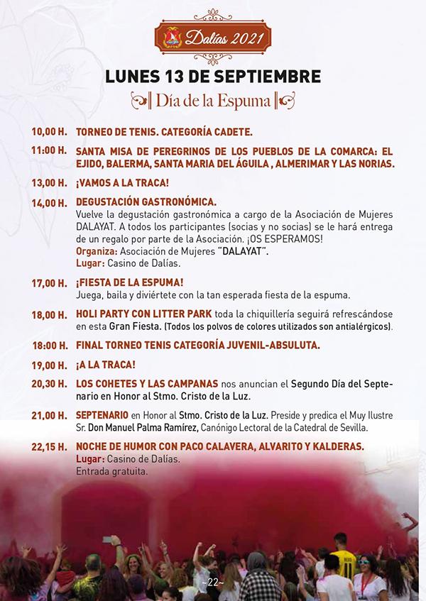 Fiestas patronales Dalías en honor al Cristo de la Luz 2021