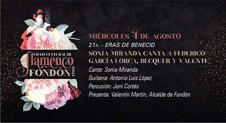 Sonia Miranda Ciclo Cultural de Flamenco de Fondón 2021