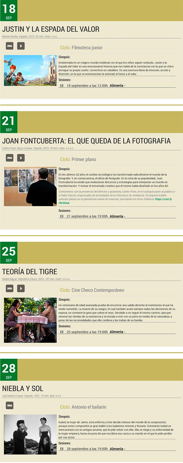 Filmoteca Andalucía - Almería - Septiembre 2021
