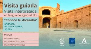 "Jornadas Europeas de Patrimonio ""Visita guiada con intérprete de lenguaje de signos"""