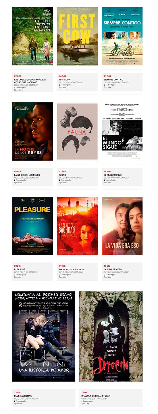 Cineclub Almería – Ciclo Otoño 2021