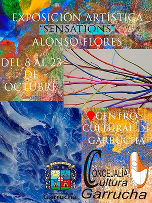 "Exposición artística ""Sensations"" de Alonso Flores."
