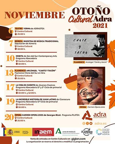 Programación cultural de otoño en Adra