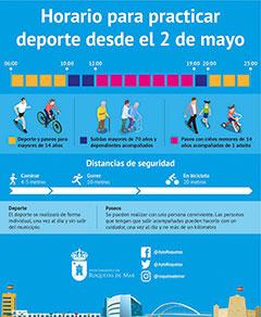 Roquetas-de-Mar-covid-19 horaios deporte